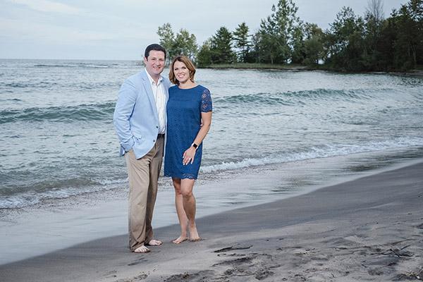 Jennifer and Tim Conroy