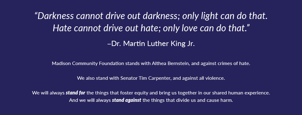 MCF stands against hate
