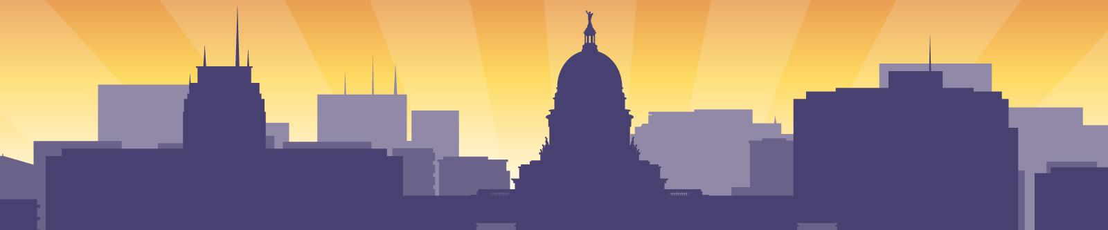 Illustration of Madison skyline